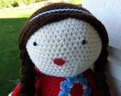 Crochet Doll, Floppy Dollie with Braids