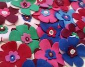 French Bulldog Fleece Flower Pins