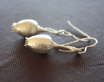 Sterling Silver Campion Seed Pod Earrings