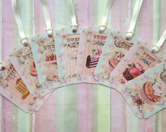 Sweet French Treats Gift Tags set of 8 No.130
