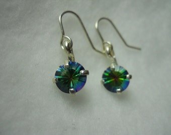 Green Mystic Topaz Gemstone Earrings