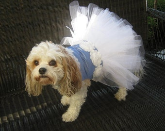 Couture Dog Harness Satin Party Tutu Dress - Any Color - Any Size - Special Occasion