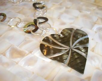 Heart Pendant Necklace, Big Heart Necklace