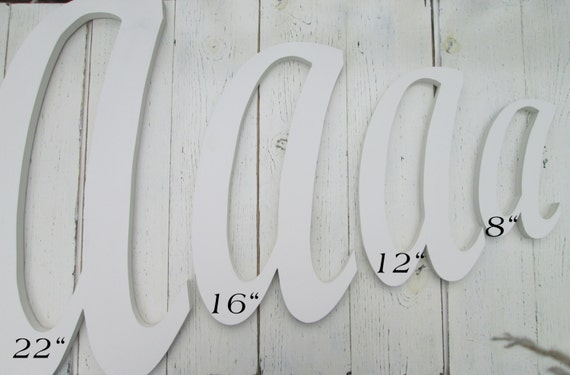 Large Decorative Wooden Letters: Large Script Font Wooden Letters For Wall By SouthernMadeSigns