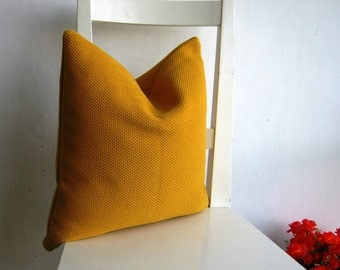 Sale - 16x16  Yellow Pillow Cover - Yellow Canvas.