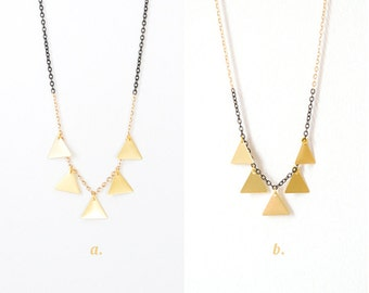 Gold Dipping - Triangle Fringe Necklace