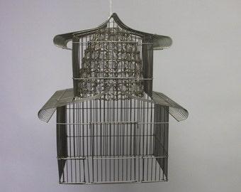 OOAK Birdcage Chandelier Assemblage