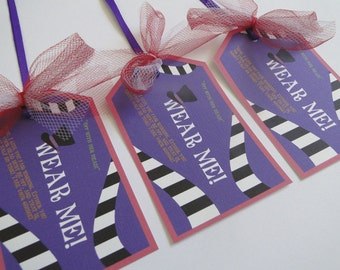 Alice in Wonderland Mad Hatter Tea Party Tags for Hat or Head Piece