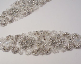 Fabulous Rhinestone and Beaded Applique--One Piece