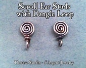 TUTORIAL  Sturdy Scroll Ear Posts with Attachment Loop for a Dangle, All Wire, Handmade