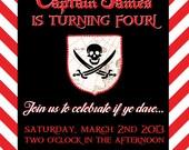 Pirate Birthday Invitation-Printable