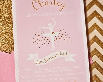Ballerina Birthday Invitation- Printable