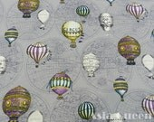 "The global hot - air balloon carnival worldwide balloon -1 yard - cotton linen, pillow fabric - Check out with code ""sale15"" to save 15% off"