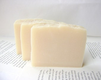 Unscented Aloe Soap, Handmade with Shea and Cocoa Butter, Cold Process Soap bar soap