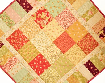 Quilted Table topper Table runner Square Patchwork Fig Tree Fabrics