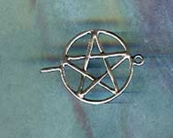 Pagan Jewelry Component Pentacle Link Sterling Charm LKP7304