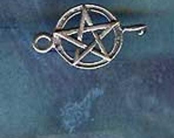 Sterling Silver Wiccan Pentacle Pentagram LINK Jewelry Finding P7303