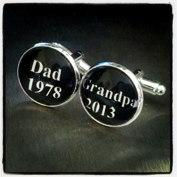 Personalized grandparent gift dad grandpa by estylocufflinks for Father s day gifts for first time dads