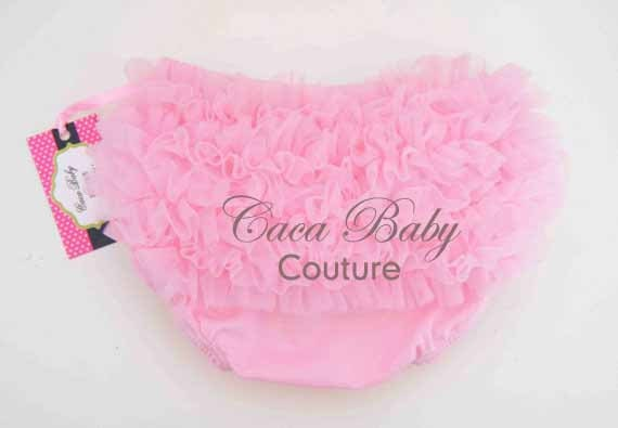 Baby  Bloomers With Soft Ruffle Pink