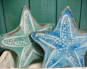 Starfish Sign Wall Art Beach House Decor by CastawaysHall