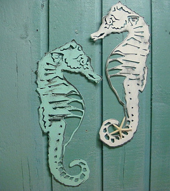 seahorse sign metal wall art beach house decor. Black Bedroom Furniture Sets. Home Design Ideas