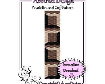 Bead Pattern Peyote(Bracelet Cuff)-Abstract Design