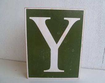 Large Wood Block Letter Y
