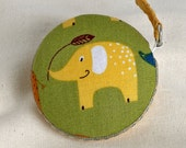 Elephant Tape Measure - yellow on green
