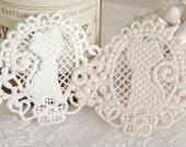 3 Pcs Lace Fabric Doily Trim Lace Fabric Trim Embroidery Lace Gauze