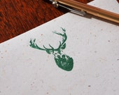 Green Buck deer stationery set, eco-friendly stationary letter writing paper