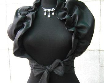 Black taffeta bolero