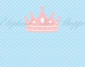 Pink Princess Crown Candy Bar Wrapper - Instant download - (fits 1.55oz Hershey Bar) - Digital file pdf