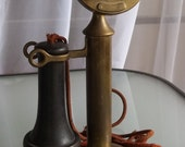Vintage Western Electric Brass Candlestick Phone