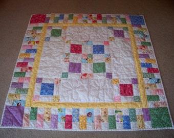 Handmade Patchwork Baby's Crib Quilt