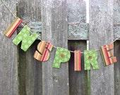 Letter garland, inspire garland, letter banner, baby shower banner