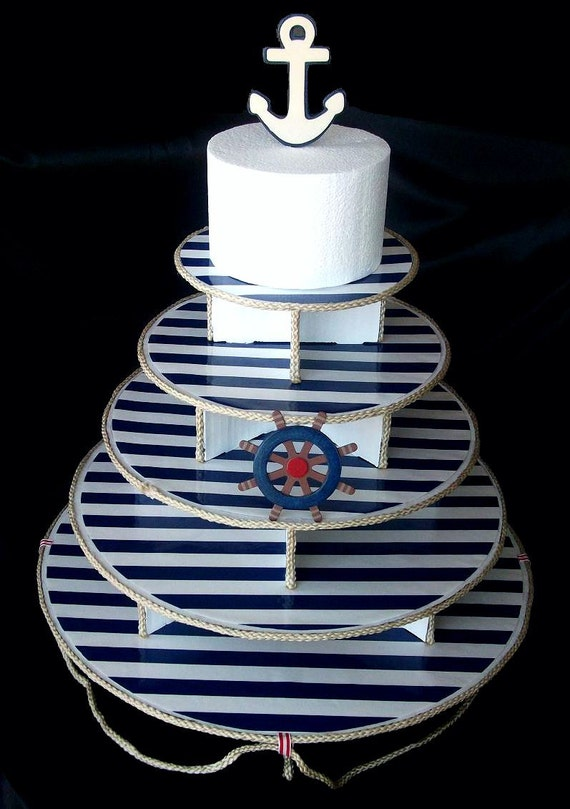 Nautical Sailor Cupcake Stand 5 Tier as well Nautische strepen en ankers together with Quoits Game besides Nautical Themed 100th Day Party moreover Nautical Themed Weddingsanyone Have Pics From Theres Or Ideas. on anchor party decorations