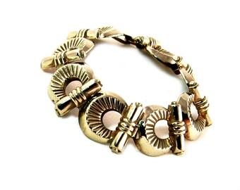 Vintage Art Deco Link Bracelet Modernist 1930s