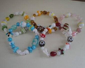 Springtime and Easter Stretch Bracelets