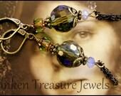 Olivene Crystal Vintage Style Dangle Earrings