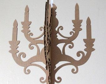 MINI Chandelier - Cardboard Chandelier, Paper Chandelier, Chandelier Cut Out, Hanging Chandelier, DIY Chandelier, Chandelier Silhouette