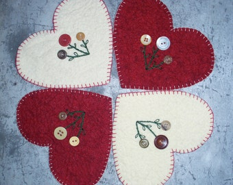 Cute as a Button Candle Mat