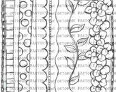 INSTANT DOWNLOAD Set of 6 journaling border digital stamp images