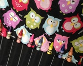 Adorable Owls Crayon/Activity Tote