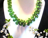 Green Egyptian Scroll necklace