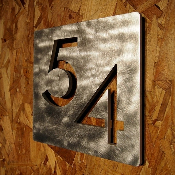 Custom modern 9 square floating house numbers for Floating house letters