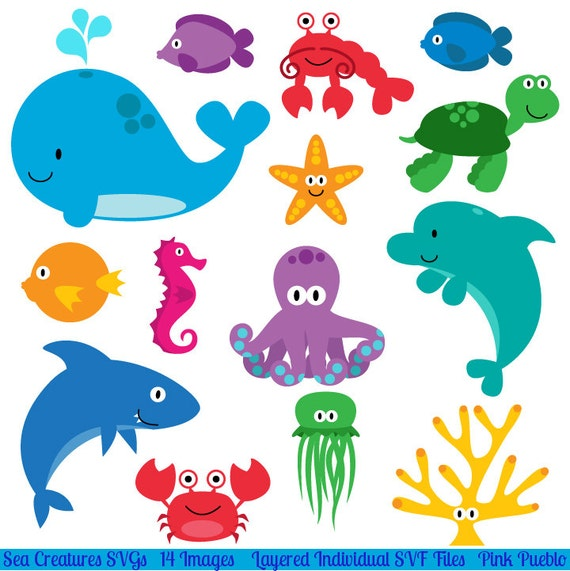 Dynamic image for printable ocean animals