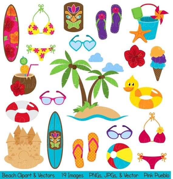 Beach Clipart Clip Art Summer Vacation on Spring Weather Wear Preschool