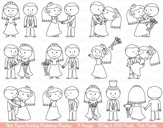 Stick Figure Wedding Invitations: Wedding Stick Figure Photoshop Brushes Bride And Groom