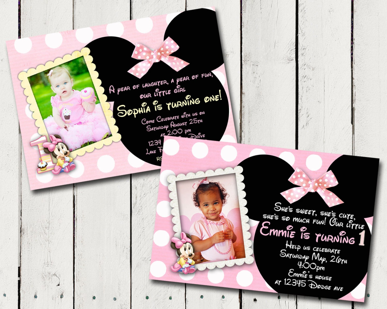Baby Minnie Mouse 1st Birthday Party by TamiRayCardsandPrint
