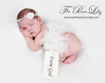 Delicate Baby Halo, Delicate Fabric Flower Open Halo Headband PHOTO PROP